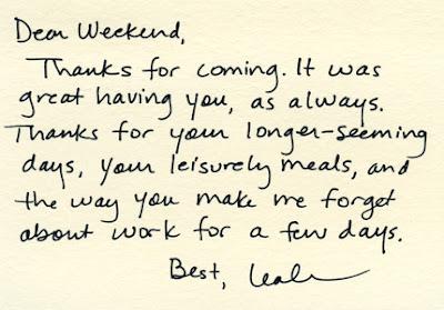 Dear week end….