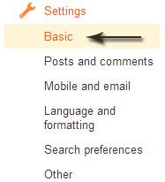 blogger basic settings