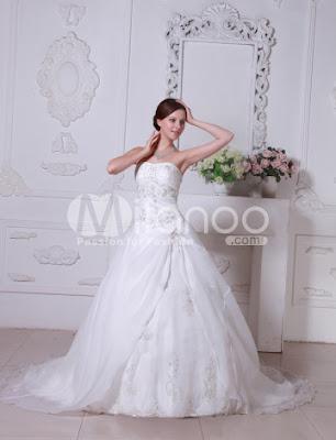 Euro Style A-ligne sweetheart robe bustier de mariée en satin