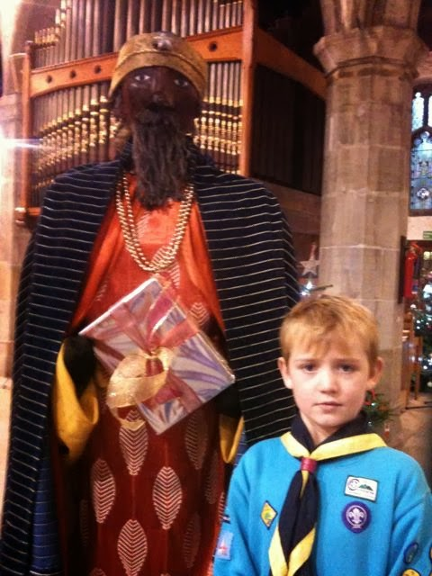 Beaver Scout with Nativity Wiseman