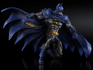 Square Enix Play Arts Kai Batman Arkham City 70's Skin Batman Figure