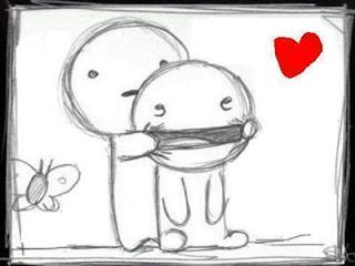 dibujo a lapiz sonreir