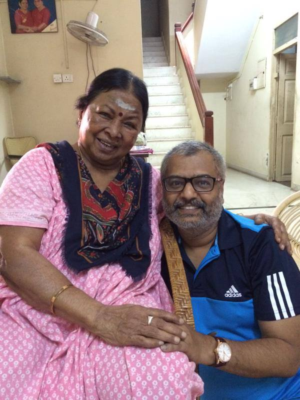 A recent picture of Aachi #Manorama and #Vivek.