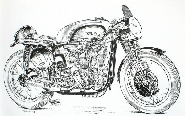 Motoblogn motorcycle blueprints and sectioned art motorcycle blueprints and sectioned art from the book classic motorcycles by vic willoughby 1975 malvernweather Images