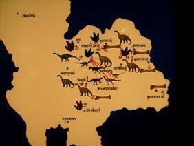 แหล่งที่พบไดโนเสาร์ ในประเทศไทย
