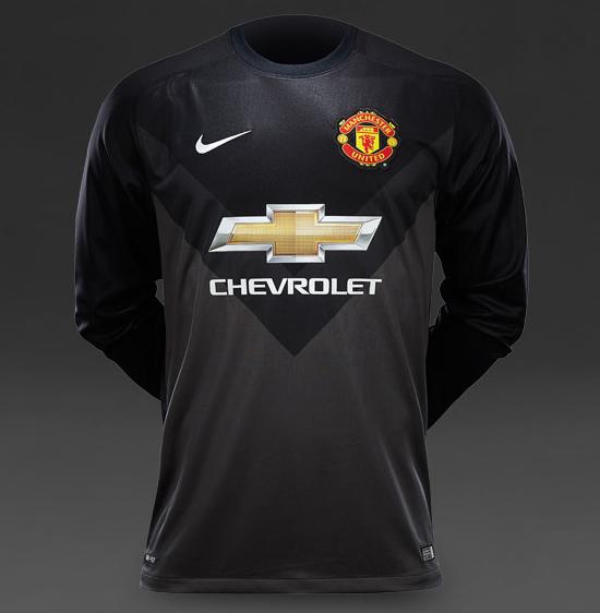 Manchester United - Goalkeeper Shirt 2014-2015 Black - Kaos Jersey Untuk Kiper