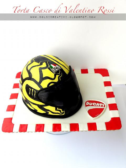 Torta casco Valentino Rossi