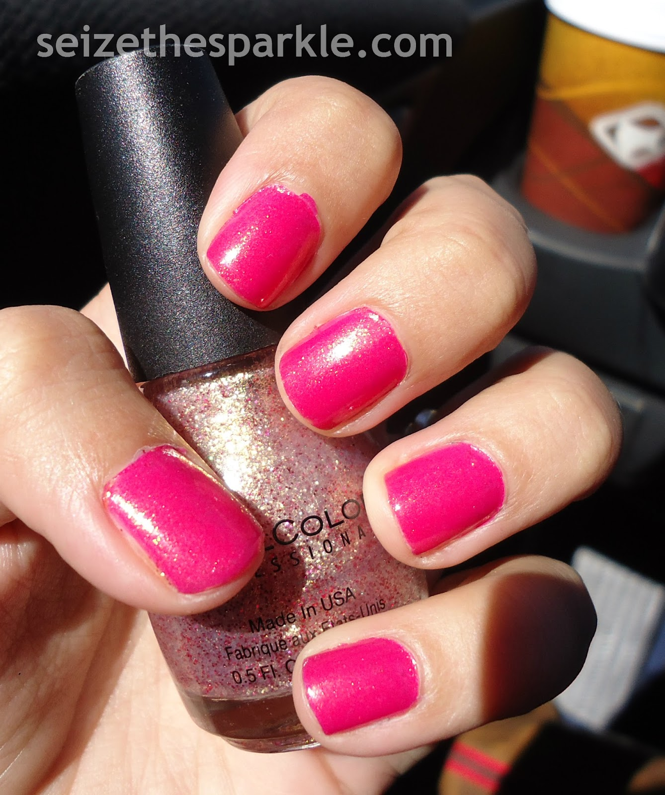 China Glaze Strawberry Fields, Sinful Colors Gilded Layering