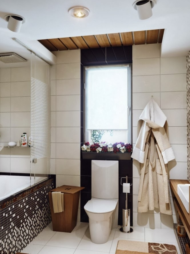 Iluminar Baño Pequeno: en el techo, que permitan iluminar diferentes zonas del baño