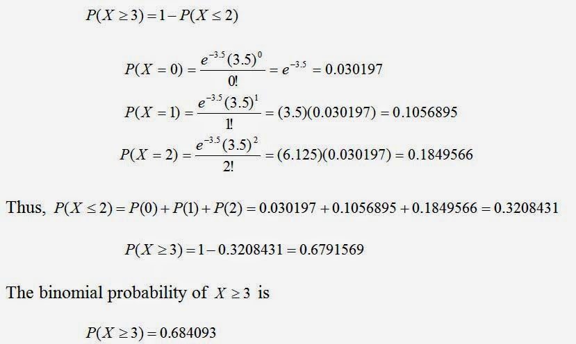 Applied Statistics: Poisson Approximation to the Binomial Distribution