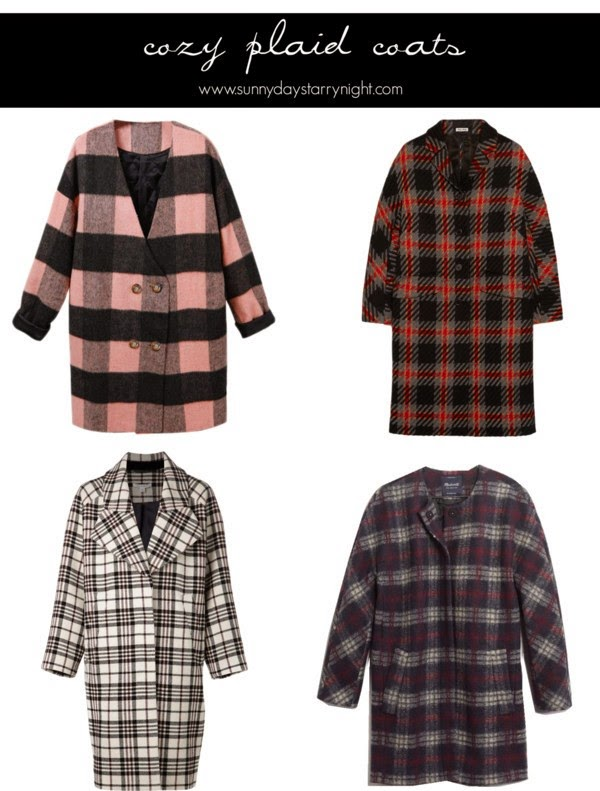 plaid coats