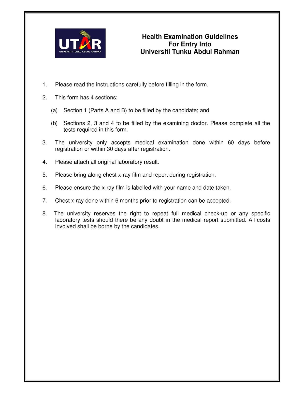 Admission Offer Letter Utar