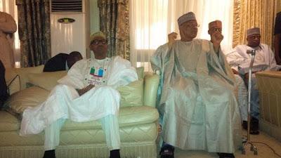 Photos: Tinubu, Buhari, Osinbajo, visit IBB at his home in Minna