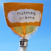 Nutmeg Creme Lollipops