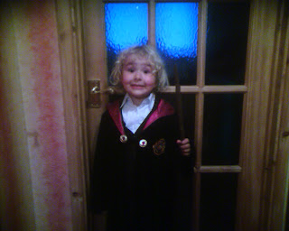 Top Ender in Gryffindor costume for the midnight release of the book Harry Potter and the Deathly Hallows in 2007