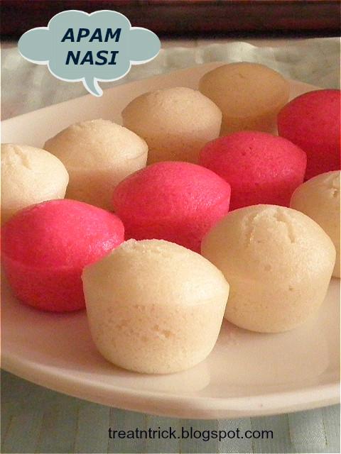 Apam Nasi (Steamed Rice Cake)