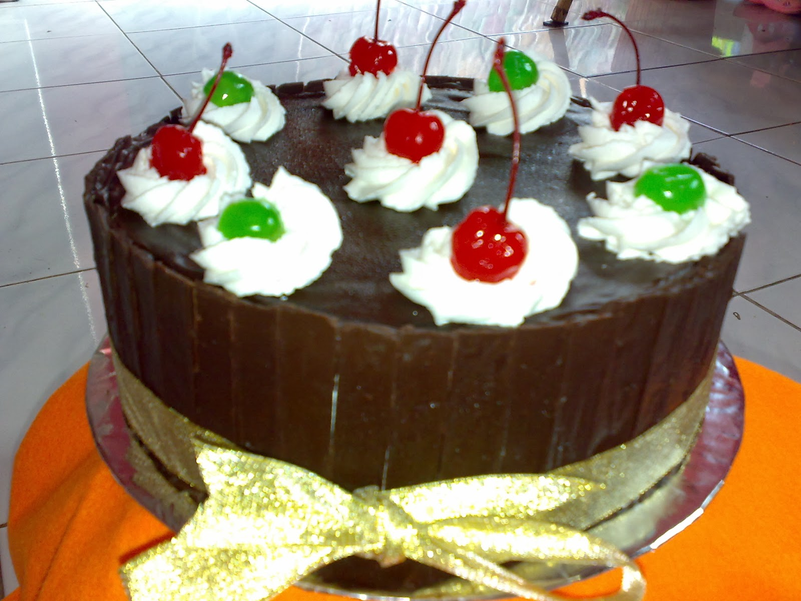 Blackforrest valentine cake