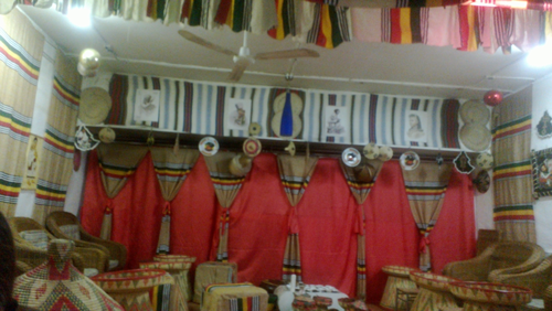 the decor is of ethiopian art, culture and history