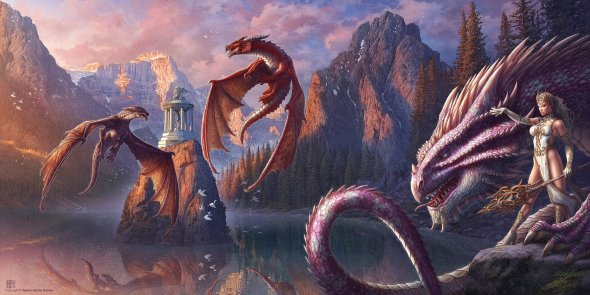 Kerem Beyit deviantart ilustrações fantasia dragões