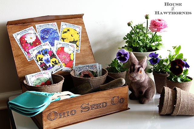 DIY tutorial for making a vintage inspired seed box