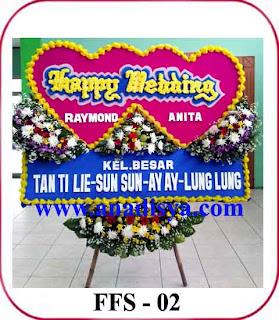 bunga ucapan happy wedding