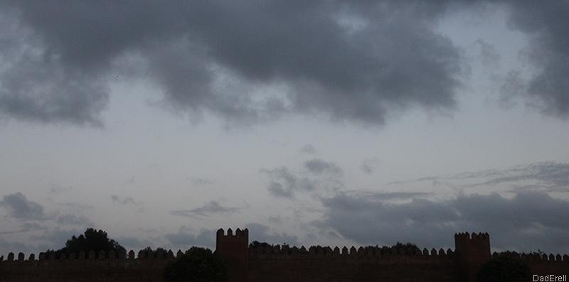 Muraille de Chellah, Rabat, Maroc