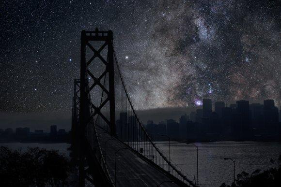 Thierry Cohen fotografia photoshop cidades noite céu estrelado