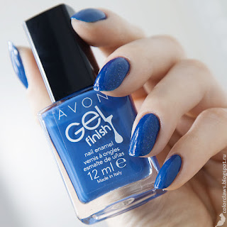 Avon Gel Finish Royal Vendetta + Nailwear Pro+ Celestial Blue