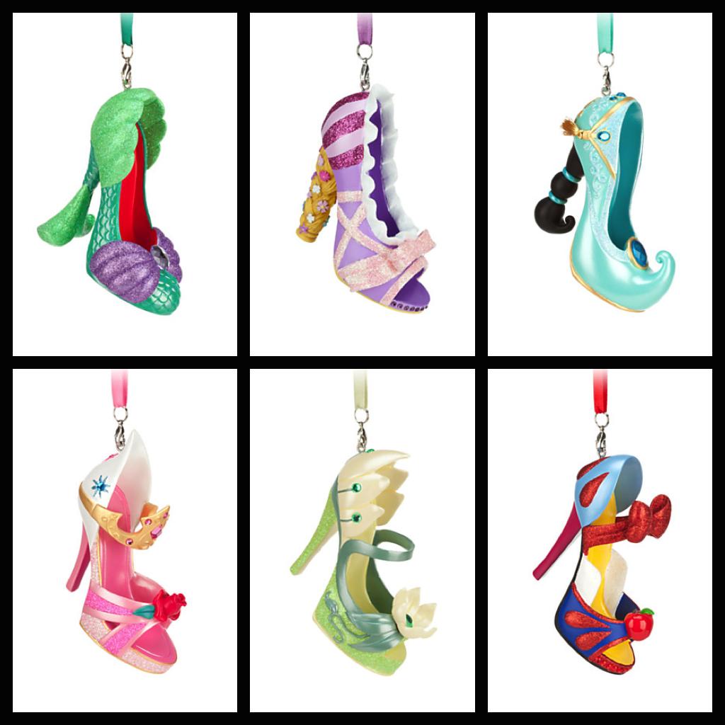 Princess Shoe Ornaments Photos From Disney Store Website