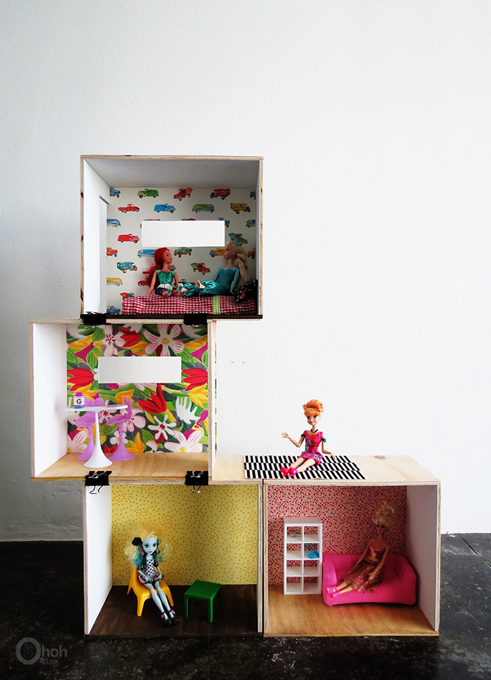 Diy Barbie Dollhouse Ohoh Deco