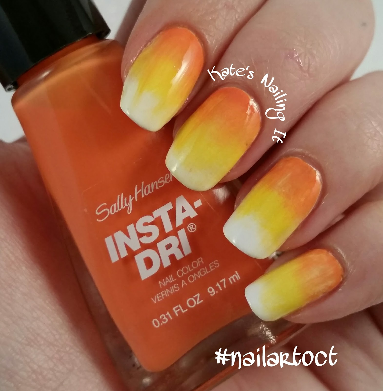Kate\'s Nailing It: October nail art challenge Day 4: Candy Corn!