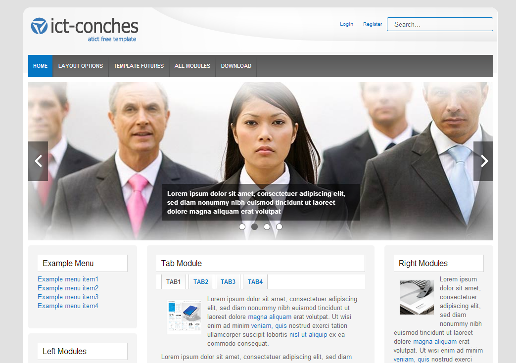 Free Joomla Template – ICT Conches