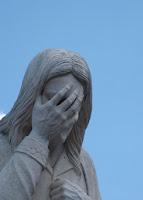 Jesus is sad to die.