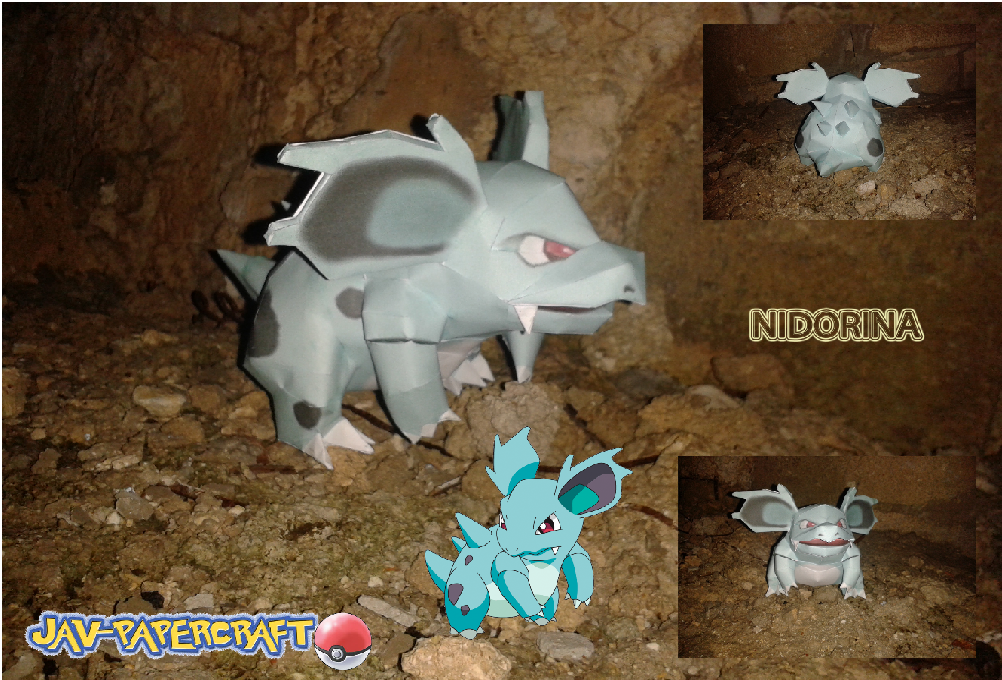 Pokemon Nidorina Papercraft
