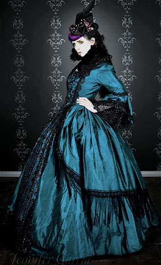 Gothic Victorian Marie Antoinette Wedding Dress