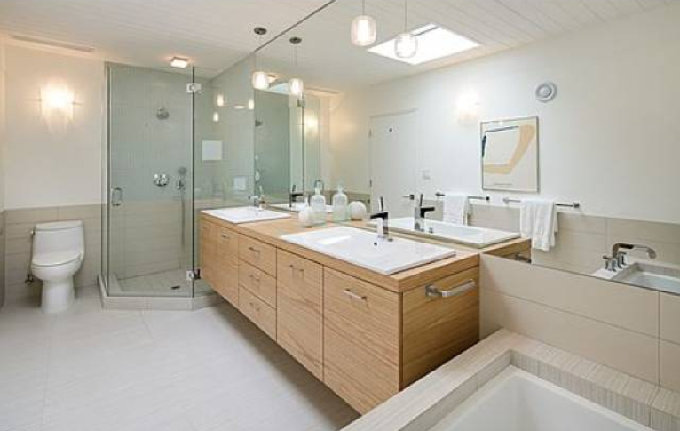 Creative Mid Century Modern Bathroom Lighting Fascinating Vanity