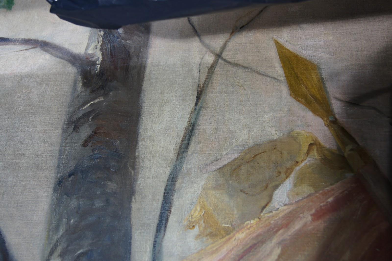 Pauline restaure for Retouche peinture plafond