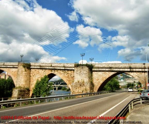 Vistas del Puente Romano de Ourense - Edificios de Papel