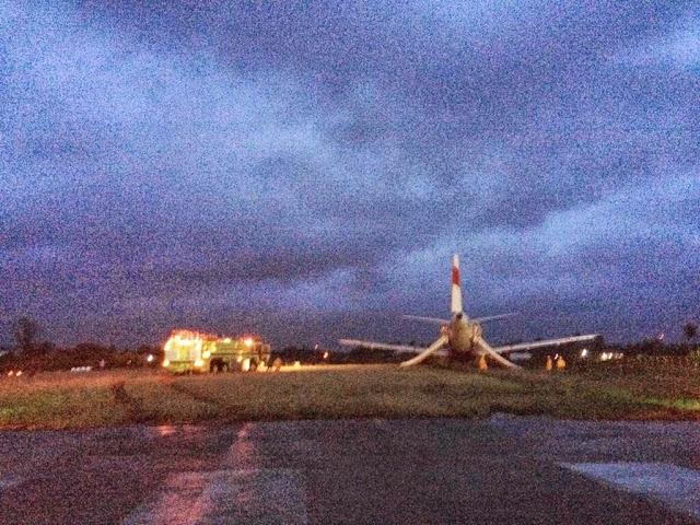 Pesawat Air Asia Tergelincir di Kalibo,Filipina