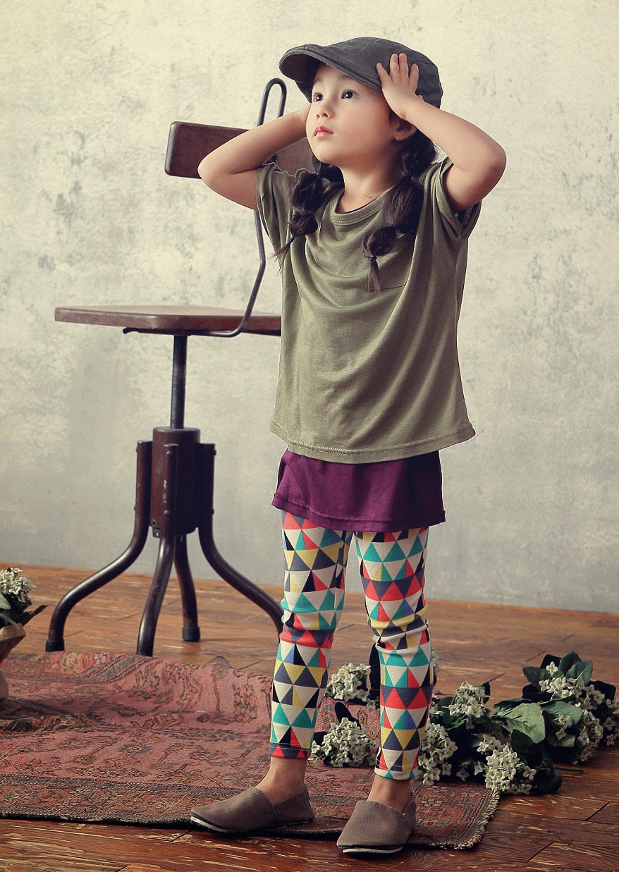 Leggings with triangle print by Color Me WHIMSY - kids fashion