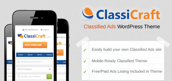 ClassiCraft v1.14 Classified Ad Listing WordPress Theme