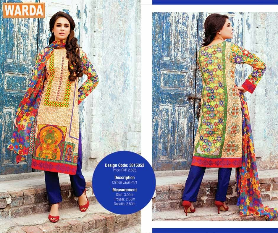 Warda Designer Lawn For Girls | Spring-Summer Wear Lawn Suits
