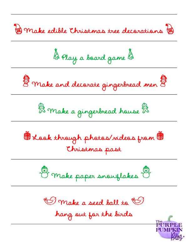 50 Pick 'n' Mix Christmas Activities - Free Printable