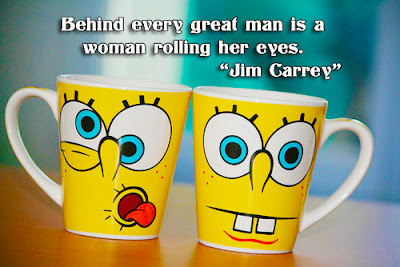 facebook Poste image quotes (Behind every great man is a woman rolling her eyes)