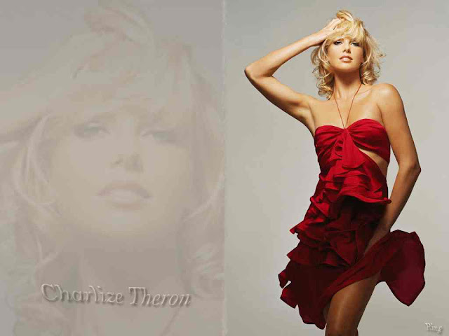 Charlize Theron Beautiful with red dress