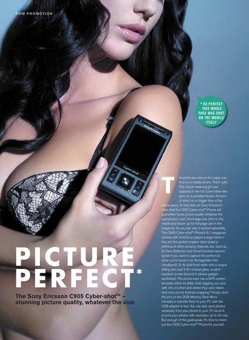 sony ericsson boobs advert