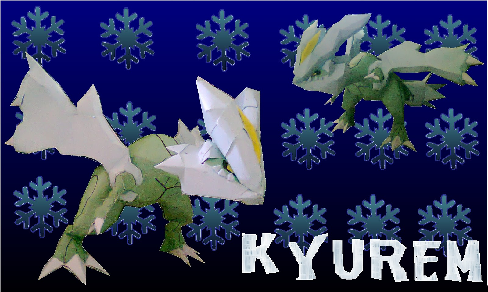 Pokemon Kyurem Paper Model