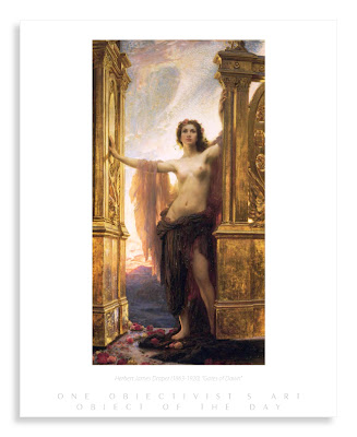 Herbert James Draper Gates of Dawn print objectivism art