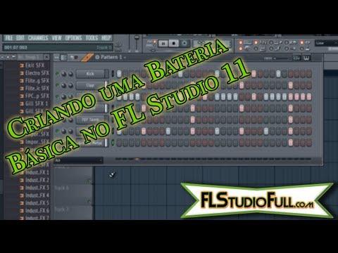 Criando Bateria Básica no FL Studio 11 [Tutorial-Pt-Br] Pt1