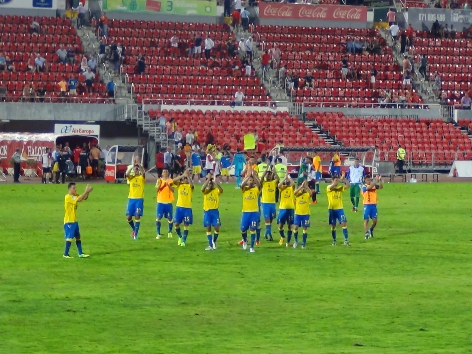 El equipo agradeció el apoyo a la afición amarilla en Son Moix